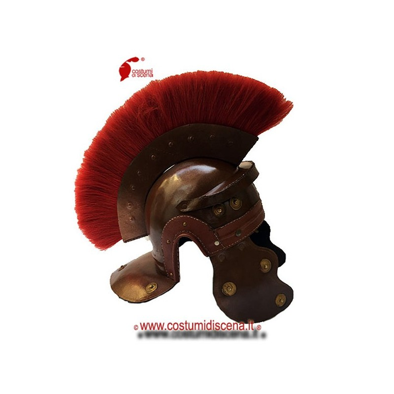 Roman imperial helmet in genuine leather