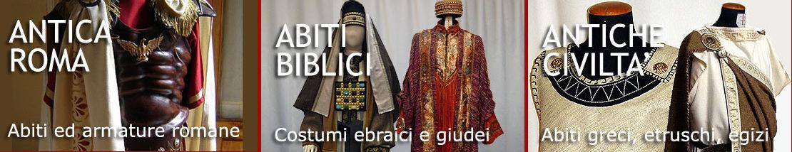 Abbigliamento ed armature greche e romane, costumi storici e religiosi