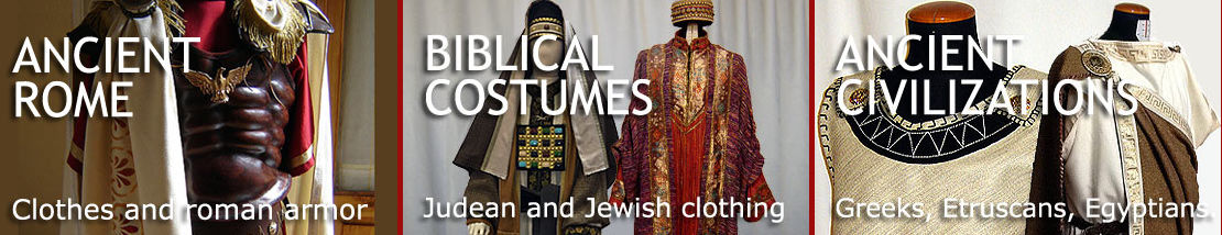 Clothing and armor in ancient Greece and Rome; historical and religious costumes